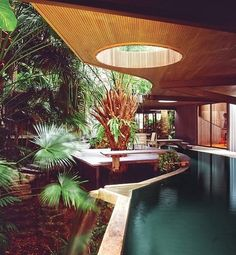 """WOODSONG, Architect Alfred Browning Parker's signature creation located on Seminole Street in the North Grove, Florida. Built 1970. In 2006, the English design and architecture magazine, Wallpaper, named """"Woodsong"""", one of the ten most beautiful houses in the world."""