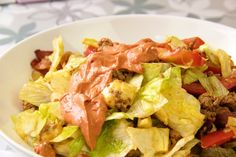 Bic mac salat mit bacon