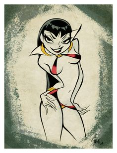 Vampirella by Shane Gliness Comic Book Artists, Comic Artist, Comic Books Art, Retro Cartoons, Sexy Cartoons, Girl Cartoon, Cartoon Art, Bilal, Cartoon Network