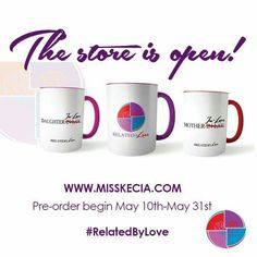 #RelatedbyLove is now open at www.MissKecia.com