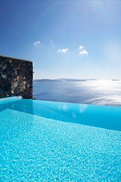 Santorini pool / via Tumblr / We Heart It