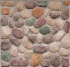 River rock style... different colors could be neat? Easy to work with many colors? (@Jenny Howe)