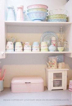 Lovely pastels and Greengate pieces
