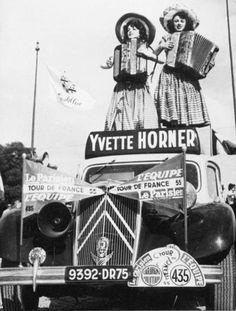 yvette horner sur le tour de france 1955
