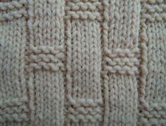 Textured tiles knitting stitch