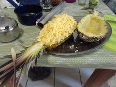 pineapple + shrimp + cheese