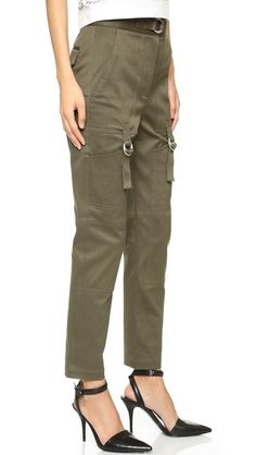 Alexander Wang High Waisted Pants with Cargo Pockets