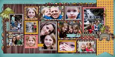 12 photos  2 page layout