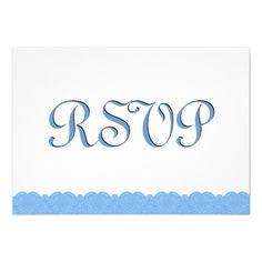 #BabyBlue #Lace #RSVP #Wedding #Response #Invites http://www.zazzle.com/baby_blue_lace_rsvp_wedding_response_v019_invitation-161798743499579739