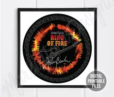 Ring of Fire, Radial Sound Wave and Lyrics art, Printable digital sound wave poster, Instant Download files, Personalized soundwave gift Personalized Photo Gifts, Rainbow Connection, Beautiful Songs, Sound Waves, You Are The Father, Custom Art, Order Prints, Printing Services, Printable Art