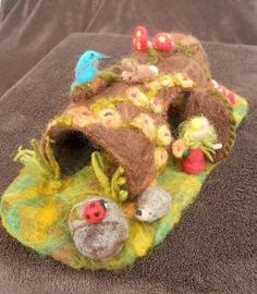 Hollow Log Fairy Tree House Waldorf Play Mat Play Scape Needle Felted Play items. $57.00, via Etsy. by DarthPagan