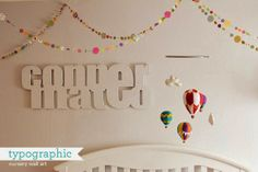 srta limón: Cómo hacer unas letras molonas para la habitación de tu hijo