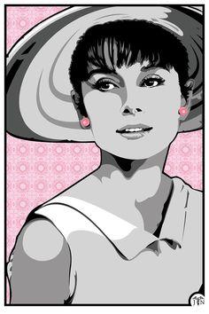 Audrey Hepburn Digital Art  - Audrey Hepburn Fine Art Print