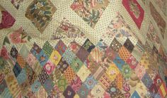 But in other photos there seems to be a clash of color as well as print style. The Austen Quilt