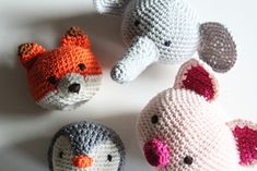 Free Crochet Patterns Animal Heads & Make your favorite cuddle cloth! : Free Crochet Patterns Animal Heads, Make your favorite Cuddle Cloth! Crochet Easter, Easter Crochet Patterns, Crochet Amigurumi Free Patterns, Diy Crochet, Crochet Hooks, Knitting Patterns, Double Crochet, Single Crochet, Animal Heads