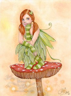 Items similar to Print - Pixie on mushroom II on Etsy Elf Art, Fairy Coloring, Coloring Books, Unicorns And Mermaids, Fairy Pictures, Mushroom Art, Baby Fairy, Beautiful Fairies, Fairy Art