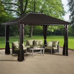 10 X 12 Steel Roof Gazebo At Menards Shed Amp Gazebos