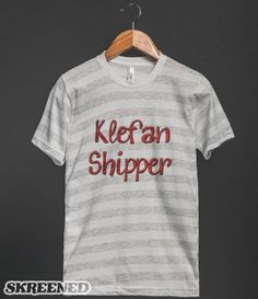 """Klefan Shipper"" T-Shirt Design from my Vampire Diaries Designs Store! click to buy! (t-shirt requests can be made here, or at nickziall.tumblr.com/ask) #VampireDiaries #TVD #Klefan #KlausMikaelson #StefanSalvatore"