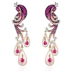 """""""Animal Set"""" sparkly gems showcase this delicious pink peacock."""