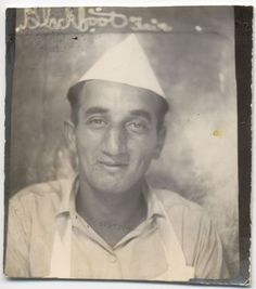 ** Vintage Photo Booth Picture **   Cheery sort of fella who slipped into a photo booth.  He looks like he might have sold snow cones at the local fair.  From the book American Photobooth by Nakki Goranin.