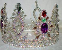 Russian Dynasty Rhinestone Silver full UNISEX CROWN Crown - Crown Designers - Rhinestone Crowns, Tiaras & Scepters