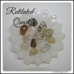 RUTILATED QUARTZ  for Grounding and Cleansing the Aura body and for manifesting, attuning and magnifying energy, especially during healing sessions  by CrystalVibrations06  3 for $7.95  #rutilated #quartz www.wandavirgo.com