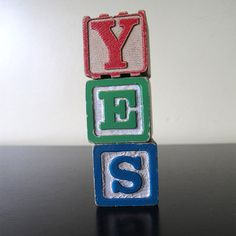 YES Blocks, $25, now featured on Fab.
