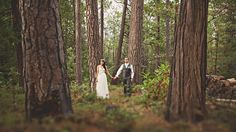 Hand in hand.  Forest wedding photography.
