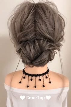 Korean Hair Dye, Korean Medium Hair, Korean Hair Color, Medium Long Hair, Medium Hair Styles, Long Hair Styles, Cute Messy Hairstyles, Messy Updo, Everyday Hairstyles