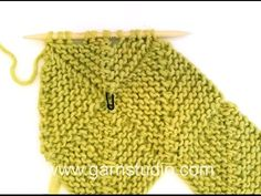 DROPS Knitting Tutorial: How to work a half domino square (horizontal)., My Crafts and DIY Projects