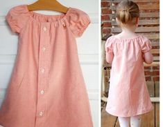 15  Creative Ways To Repurpose Men's Shirt Into Little Girl's Dress -- From Dad's Shirt to a Little Dress