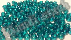 100 TURQUOISETeal GLITTER/SPARKLE pony beads by KandiStash on Etsy, $2.00