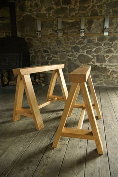 The trestles are based on the traditional carpenters trestle but have been engineered using angled mortice and tenon joins that are draw pegged and are extremely robust and elegant.