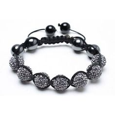 Bling Jewelry Shamballa Inspired Bracelet Grey Crystal Bead Hematite 12mm - http://www.wonderfulworldofjewelry.com/jewelry/religious-jewelry/religious-bracelets/bling-jewelry-shamballa-inspired-bracelet-grey-crystal-bead-hematite-12mm-com/ - Your First Choice for Jewelry and Jewellery Accessories