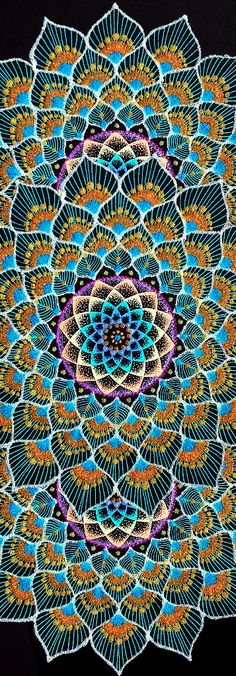 Peacock mandalas - Modal Scarf by Nobuaki Suzuki Mandala Design, Mandala Art, Elefante Hindu, Hamsa, Visionary Art, Dot Painting, Psychedelic Art, Fractal Art, Yin Yang