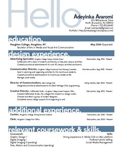 Layout For Resume Pleasing Resume Layout Jennifer Horning  Darn Good Ideas  Pinterest .