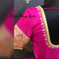 Blouse Styles, Blouse Designs, Wedding Designs, Wedding Styles, Maggam Works, Work Blouse, Embroidery Designs, Sari, Neckline