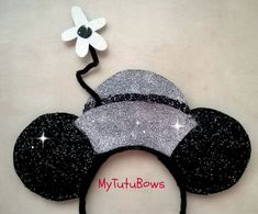 NEW ITEM Minnie Mouse Ears Headband Dapper Vintage by mytutubows