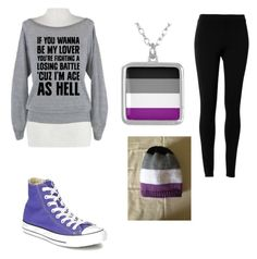 """Asexual Pride"" by leebobee on Polyvore featuring Max Studio, Converse, pride, sexuality, asexual and asexualpride"