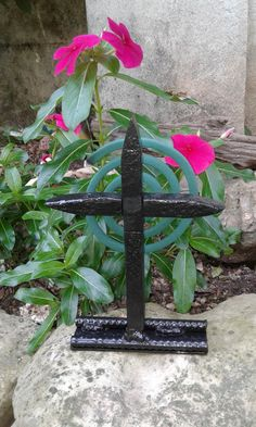 Mosquito Coil Holder Cross Crucifix by MilburnsMetalWorks on Etsy