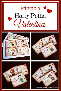 Printable Harry Potter Valentines: Celebrate Valentine's Day with these Printable Harry Potter Valentines!  As many of you know we are a household obsessed with Harry Potter. Though we've read all of the books we are in the process of re-reading the series again aloud. As such our son specifically asked for Harry Potter themed Valentines to give to his friends and fellow Gryffindors.