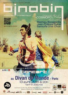 Concert au Divan du Monde 13 avril - 20h15 - infos : http://www.divandumonde.com/13-Avril-2016-binobin-1635.html