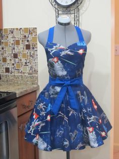 Star Wars Apron-Sexy Sweetheart style-Full of Twirl Flounce-Ready to ship. $37.00, via Etsy.