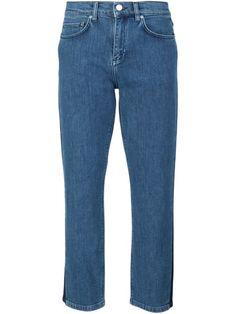 VICTORIA VICTORIA BECKHAM Cropped Boyfriend Jeans. #victoriavictoriabeckham #cloth #jeans