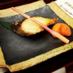 Traditional Japanese meal brought in courses #5:Grilled Dish 焼き物
