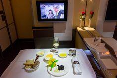 Lufthansa A380 First Class Caviar Service http://travel.bart.la/2013/08/10/lufthansa-a380-first-class-lh778-lh779-fra-sin/