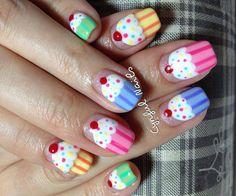 Cupcakes Nail Designs