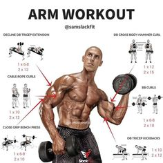 Weight Training. Arm workout for fitness/weight training #virileman5