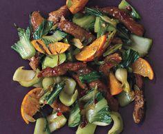 Pork Tenderloin Stir-Fry with Tangerines and Chili Sauce Recipe  | Epicurious.com