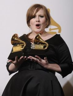 Adele - musical genius. One of the first things she said when she made it big is that she had no intentions of becoming skinny just because she was becoming famous.